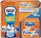 Gillette Fusion Blades 4 pack & Free Razor - Boots