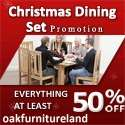 At least 50% Dining Table & Chair Sets ~ Plus Extra 5% off with code + Free Delivery @ OakFurniture Land