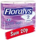 Floralys Luxury Toilet Tissue 9 rolls £1.79 @ Lidl