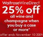 25% Off All Wine and Champagne @ Waitrose