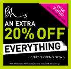 Weekend Sale ~ Extra 20% Off Everything @ BHS ~ Plus a selection of Half Price Gifts!