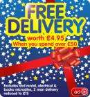 Free delivery on orders over £50 @ Wilkinson Plus (Wilko) !