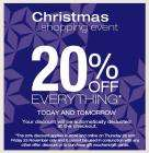 Christmas Shopping Event : 20% discount on everything @ Dorothy Perkins for 2 days - Thursday 22 - F
