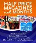 Half Price magazine subscription from W H Smith