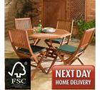 Country FSC 110cm Hardwood Garden Furniture Set £144.99 delivered next day at Robert Dyas