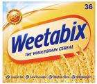 Weetabix - 48 for £3 (2 x 24 biscuits) at Asda OR 36 for £2 at Sainsburys