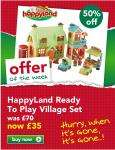 HappyLand Ready To Play Village Set Was £70 Now £35 @ ELC (£32.95 Delivered Using Code BC0710 @ Checkout)
