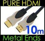 PURE HQ OFC HDMI Cable Lead, Gold Plated Ends 10m - £7.87 @ Kenable