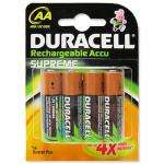 Duracell Supreme AA 2450mAh Rechargeable Pack of 4 Batteries £4.10 at 7dayshop's Amazon Outlet