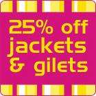 25% off kids jackets and gilets at Adams Kids (+ free p&p over £25)