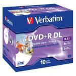 Verbatim Printable Blank DVD+R 8x Dual Layer / 10 Pack Jewel Case £9.99 @ Play.Com