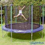 12 ft trampoline £56.80 and enclosure £29.89 at b&q 70% off