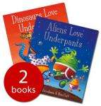 Aliens Love Underpants & Dinosaurs Love Underpants (Hardback Book Set - 2 Books) £4.99 delivered @ Red House