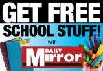 Free felt pens and notebooks for school