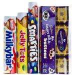 Dairy Milk, Dairy Milk Buttons, Smarties, Jelly Tots and Milkybar Tubes £1 @ Poundland