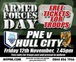Preston North End vs Hull City- FREE tickets for the Armed Forces!!