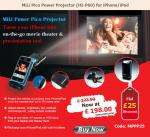 IPHONE/IPOD upto 70' Projector  Mili HI-P60 Power PICO (was £297.92) now £198 @ PPM