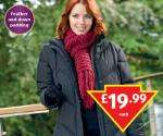 Ladies Quilted Down Jacket  19.99 at Aldi