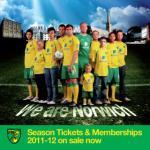 Norwich City Season Tickets 2011-12 Unders 12s just £36.50