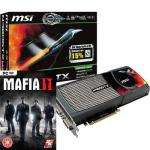 MSI GeForce GTX 480 1536MB GDDR5 PCI-Express Graphics Card with MAFIA 2 [N480GTX-M2D15] £299.99 @ OcUK