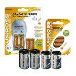 Uniross Essential Starter Pack  Includes Charger with 8 Hybrio Rechargable Batteries and Converter Cans £11.99 Delivered @ Play