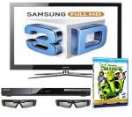 "Samsung LE40C750 40"" LCD 3D TV + Samsung Blu-ray Player + Samsung 3D Glasses + 4x Shrek 3D Films £779 @ PRC"
