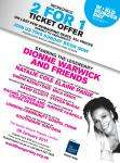 Dionne Warwick and Friends - for the Hunger Project UK : 2 for 1 offer From £62 for a pair, Apollo Victoria, London