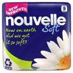 Nouvelle 100% Recycled Quilted Luxury White Toilet Tissue 9 pack £2.55 half price! @ the Co-Op