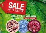 Body Shop.  4 for 3 on sale items instore, which includes Large Holdall Gift Bag
