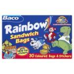 30 Baco Rainbow bags £1 Asda