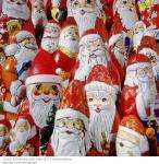 8 inch Chocolate Santas 6 for £1 at Poundland