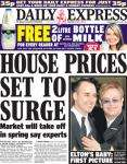 FREE 2Litre bottle of Semi-Skimmed milk with Daily Express(45p)