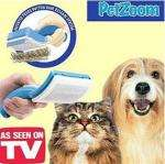 Petzoom Self-cleaning Dual Grooming Brush and Trimmer (Blue) £6.08 @ Focal Price