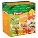 Pyrex 3 Piece Round Casserole Set 0.75L, 1.25L 2.0L Casseroles  now only £10 delivered @ amazon