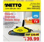JML Steam express steam mop - Floor cleaner £ 39.99 @ Netto