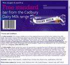 Free Standard bar from the Cadbury's range