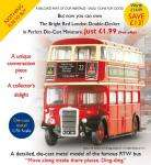 Diecast Minature Double Decker Bus 1:76 Scale - £1.99 Delivered @ Atlas Editions