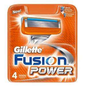 Gillette Fusion Power Blades - 4 Pack REDUCED AT AMAZON UK to £6.28 DELIVERED