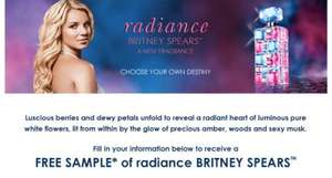Free Britney Spears Radiance Fragrance Sample @ Britney Spears Perfume