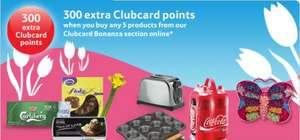 300 bonus clubcard points when you buy any 5 of these products @ Tesco