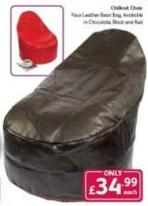 Chillout bean bag chair £34.99 @ poundstretcher