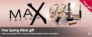 spend £15 0n maxfactor and get a free gift @ Boots