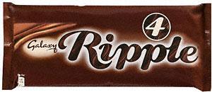 Galaxy Ripple 4 x 33g Full Size Bars £1 at Tesco
