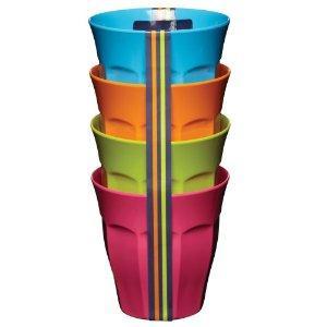 Kitchen Craft Colourworks Melamine Bowls, 15cm, Set of 4, Kitchen Craft Colourworks Melamine Salad Plates, 23cm, Set of 4 £1.75 & Kitchen Craft Colourworks Melamine Tumblers / Cups, 225ml, Set of 4 £1.50 at Amazon