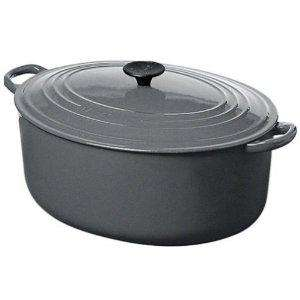 Le Creuset Cast Iron Oval Casserole, Granite, 27 cm  @ AMAZON   £60