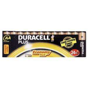 Cheapest so far Duracell Plus MN1500 Alkaline AA Batteries - 24-Pack now £6.69 delivered @ amazon