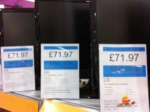 "LG W2243S - 22"" LCD Monitor, Full HD, 1080p, 30000:1 Dynamic Contrast - £71.97 *Instore* @ Currys"