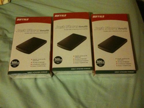 Buffalo JustStore 500GB Portable Hard Drive - £25 *Instore* @ Asda