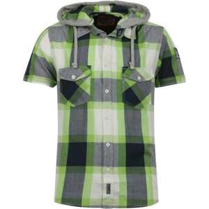 Mens Brave Soul Short Sleeved Hooded Check Shirt £9.99 @ In the label (ebay)