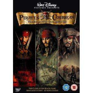 Pirates Of The Caribbean: 1/2/3: Curse Of The Black Pearl / Dead Mans Chest / At Worlds End (4 DVD Set) £9.99 at HMV